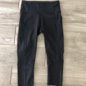 Lululemon 6 Fast and Free Crop ll leggings Black